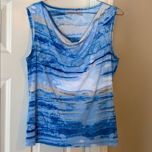 Tops - Chico's Watercolor Cowl Shell